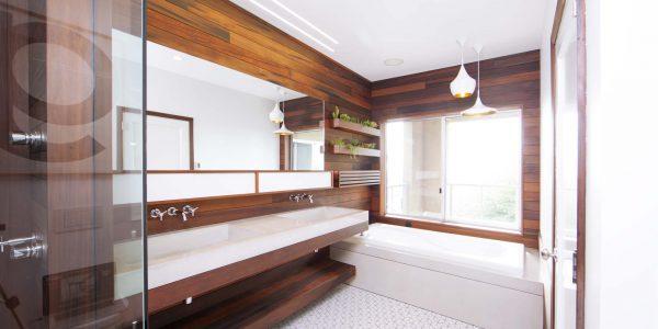 پنل چوبی حمام