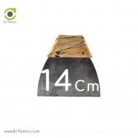 لیسه فلزی دسته چوبی 14 سانتیمتری