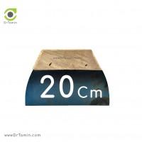 لیسه فلزی دسته چوبی 20 سانتیمتری