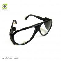 عینک ایمنی شیشه سفید تک پلاست