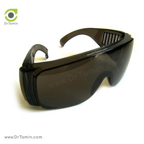 عینک ایمنی کرکره ای تک پلاست