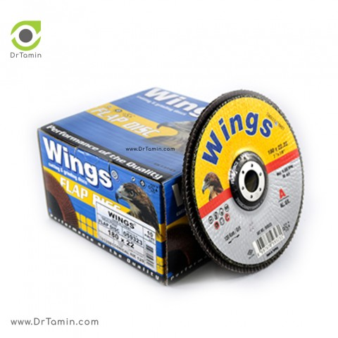 فلاپ دیسک عقابی گرید 120 آلومینیوم   ( 180x22,23)3