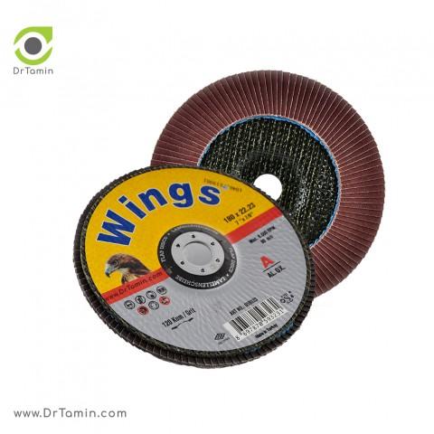 فلاپ دیسک عقابی گرید 120 آلومینیوم   ( 180x22,23)5