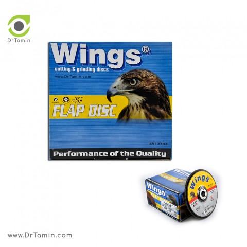 فلاپ دیسک عقابی گرید 120 آلومینیوم   ( 180x22,23)2