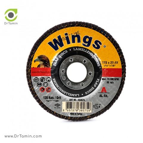 مینی فلاپ دیسک عقابی گرید 120 آلومینیوم   ( 115x22,23)