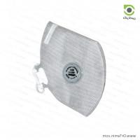 ماسک تنفسی مدل N95 طوسی 5 لایه فیلتر دار