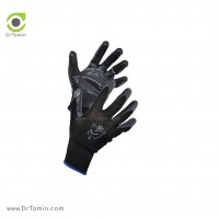 دستکش نخی بافته شده با روکش لاتکس استادکار<br> ( طوسی)