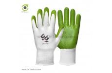 دستکش کف مواد نیتریل پایا سفید سبز
