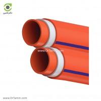 لوله فاضلابی سه لایه چسبی یکسر کوپل لاوین پلاست سایز 250 ضخامت 4.9