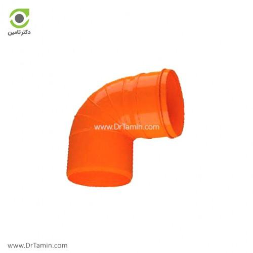 زانو 87.5 درجه U-PVC لاوین پلاست