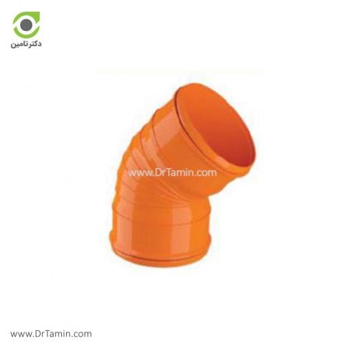 زانو 45 درجه دو سر کوپل U-PVC لاوین پلاست