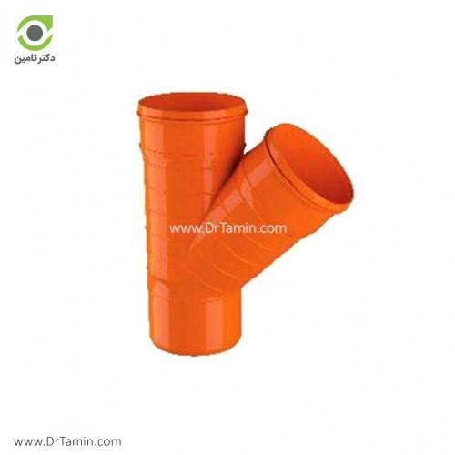سه راهی 45 درجه U-PVC لاوین پلاست