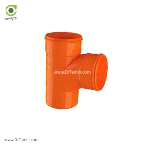 سه راهی 87.5 درجه U-PVC لاوین پلاست