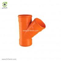 سه راهی 45 درجه سه سر کوپل U-PVC لاوین پلاست