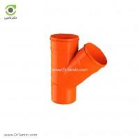 سه راهی تبدیل 45 درجه U-PVC لاوین پلاست