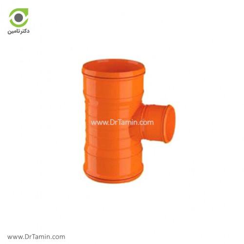 سه راهی تبدیل سه سر کوپلینگ 87.5 درجه U-PVC لاوین پلاست