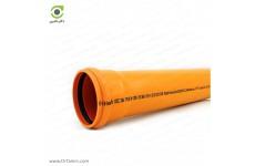 لوله یکسر کوپله 6 متری پوش فیت نارنجی پلیمر گلپایگان