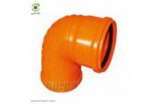 زانو 87.5 درجه دوسر کوپله نارنجی پوش فیت پلیمر گلپایگان