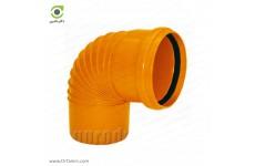 زانو 87.5 درجه یکسر کوپله نارنجی پوش فیت پلیمر گلپایگان