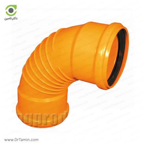 زانو خم 87.5 درجه دوسر کوپله نارنجی پوش فیت پلیمر گلپایگان