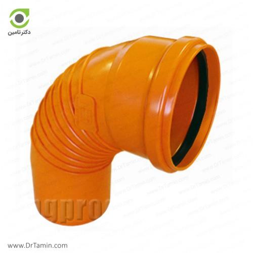 زانو خم 87.5 درجه یکسر کوپله نارنجی پوش فیت پلیمر گلپایگان