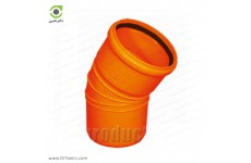 زانو 30 درجه یکسر کوپله نارنجی پوش فیت پلیمر گلپایگان