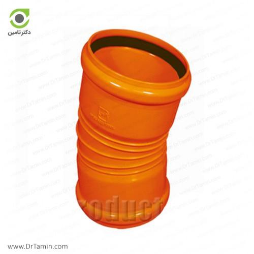 زانو 15 درجه دوسر کوپله نارنجی پوش فیت پلیمر گلپایگان
