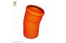 زانو 15 درجه یکسر کوپله نارنجی پوش فیت پلیمر گلپایگان