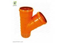 سه راهی 45 درجه دو سر کوپله نارنجی پوش فیت پلیمر گلپایگان