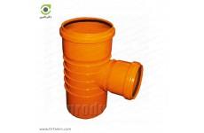 سه راهی تبدیل 87.5 درجه دو سر کوپله نارنجی پوش فیت پلیمر گلپایگان