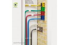 لوله برق UPVC نمره 16 شایلین (لوله برق خم سرد یو پی وی سی)