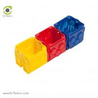 قوطی کلید رنگی عمیق شایلین <br> ( قوطی کلید و پریز برق 6 سانتیمتر شایلین)
