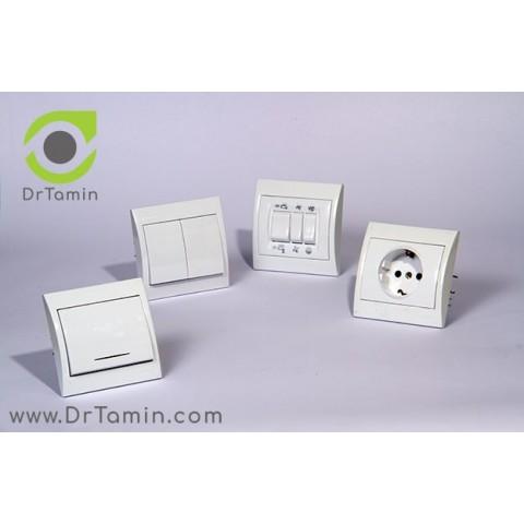 پریز برق محافظ دار  دلند الکتریک   ( مدل آرمان)2