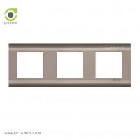 کادر پلاستیک سه خانه نیروانا 1<br> ( کادر کلید و پریز برق شایلین)