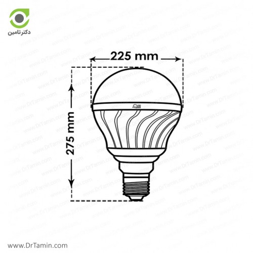 لامپ LED پارس شعاع توس مدل حبابی 15 وات