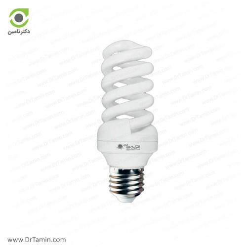 لامپ کم مصرف پارس شعاع توس مدل پیچی 18 وات