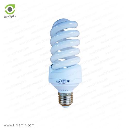 لامپ کم مصرف پارس شعاع توس مدل نیم پیچی 25 وات
