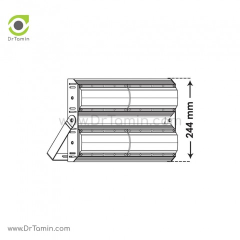 پرژکتور پارس شعاع توس مدل آتریا 200 وات رنگ سفید2