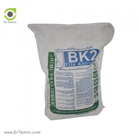 چسب کاشی پودری BK2 شیمی ساختمان سفید 20 کیلویی3