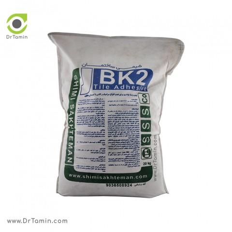 چسب کاشی پودری BK2 شیمی ساختمان سفید 20 کیلویی2
