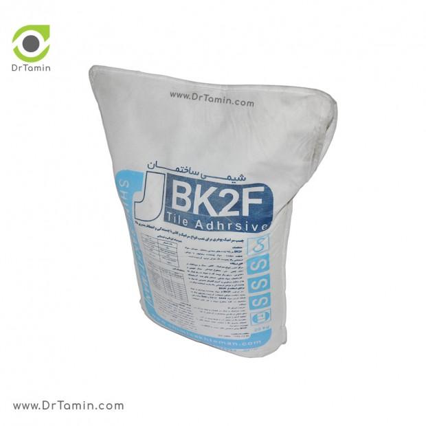 چسب کاشی پودری BK2F شیمی ساختمان سفید 20 کیلویی