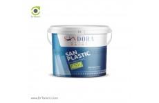 رنگ پلاستیک با رزین P.V.A ساندورا مدل سان پلاستیک چاپ آبی