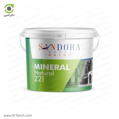 پوشش سنگ دانه های طبیعی معدنی ساندورا مدل مینرال وزن 25 kg