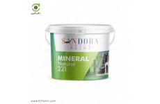 پوشش سنگ دانه هاثی طبیعی معدنی ساندورا مدل مینرال پاششی وزن 25 kg