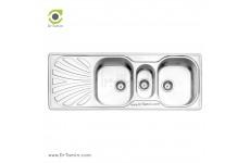 سینک فانتزی توکار استیل البرز مدل 530/50 (ابعاد 50×132.5 سانتیمتر)