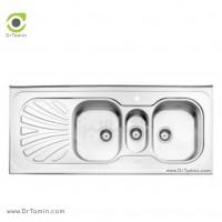 سینک فانتزی روکار استیل البرز مدل 530/60 <br> ( ابعاد 60×140 سانتیمتر)