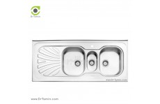 سینک فانتزی روکار استیل البرز مدل 530/60 (ابعاد 60×140 سانتیمتر)