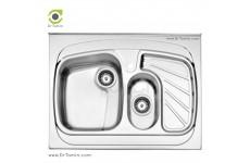 سینک فانتزی روکار استیل البرز مدل 608/60 (ابعاد 60×80 سانتیمتر)