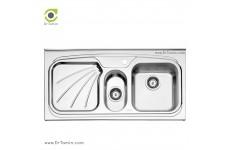سینک فانتزی روکار استیل البرز مدل 610/50 (ابعاد 50×100 سانتیمتر)