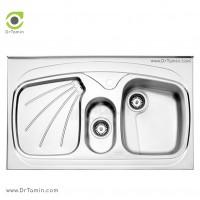 سینک فانتزی روکار استیل البرز مدل 610/60 <br> ( ابعاد 60×100 سانتیمتر)